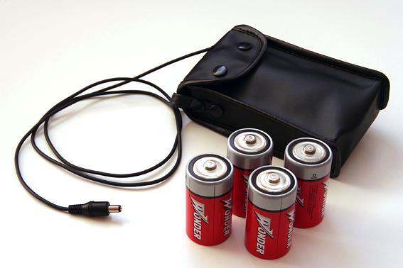 Batérie na napájanie montáže.